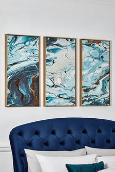 Set of 3 Abstract Framed Canvas
