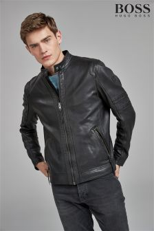 BOSS Black Jaylo Leather Jacket