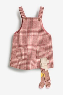 Check Pinafore With Tights (3mths-7yrs)