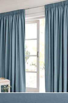 Cotton Studio* Pencil Pleat Lined Curtains