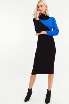 Oasis Multi Black Breanna Colourblock Dress
