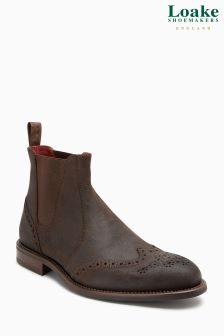 Loake Brown Hoskins Brogue Chelsea Boot