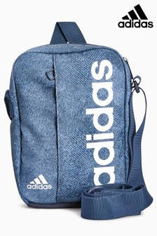 8b5a2f6f6513 adidas Blue Marl Linear Bag