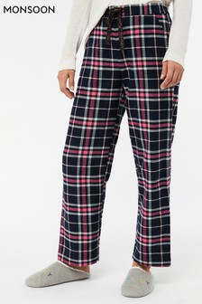 Monsoon Blue Rosie Check Trouser