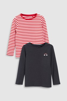 Long Sleeve T-Shirts Two Pack (3-16yrs)
