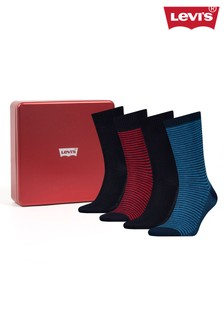 Levi's® Gift Box Regular Cut Socks Four Pack