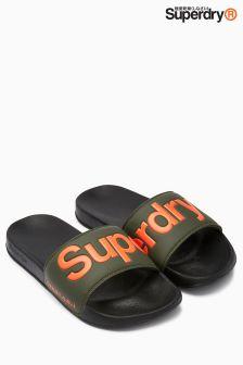 Superdry Black Pool Slider