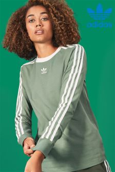 adidas Originals Green 3 Stripe Top