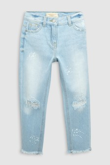 Paint Splatter High Waist Relaxed Jeans (3-16yrs)