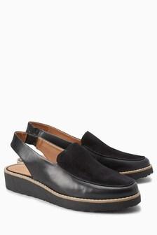 Leather Eva Slingbacks
