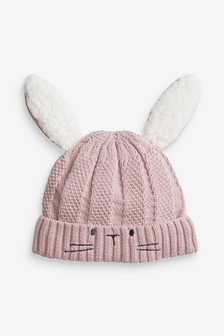 Вязаная шапочка «кролик» (0 мес. - 2 лет)