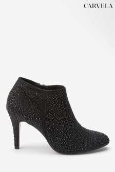 Carvela Black Serene Jewel Ankle Boots