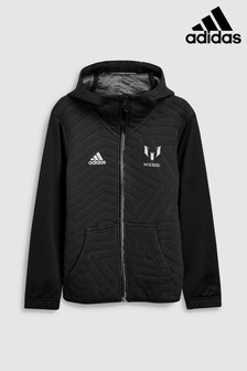 adidas Black Messi Full Zip Hoody