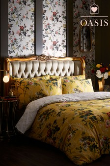 Oasis Leighton Floral Duvet Cover and Pillowcase Set