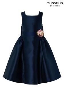 Monsoon Cynthia Navy Maxi Dress