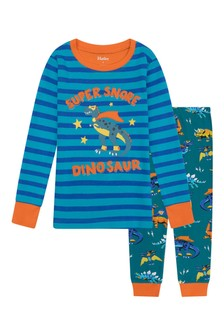 Boys Organic Cotton Blue Pyjama Set