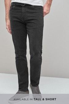 Эластичные джинсы с ремнем