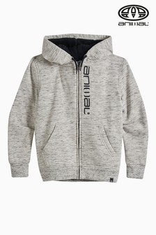 Animal Grey Marl Stanto Sherpa Lined Zip Hoody