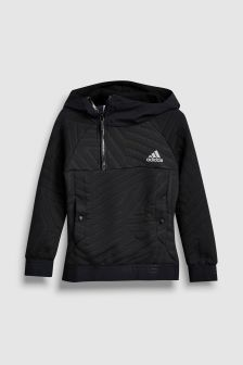 adidas Black Messi Half Zip Hoody