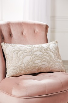 Embellished Bead Cloud Cushion
