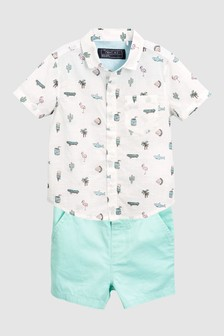 Shirt And Shorts Set (3mths-6yrs)