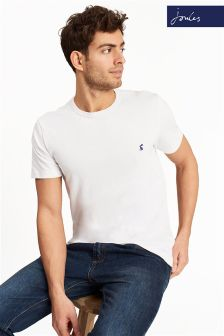 Joules White Laundered Short Sleeve T-Shirt