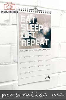 Personalised Fitness Wall Calendar by Instajunction