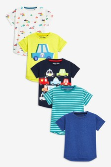 T-Shirts Five Pack (3mths-6yrs)