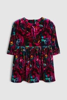 Velour All Over Print Dress (3mths-6yrs)