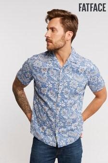 FatFace Blue Murcott Paisley Pattern Print Shirt