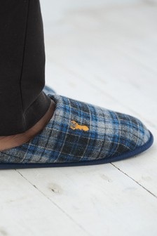 Check Mule Slippers