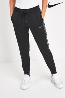 Nike Black Logo Tape Joggers