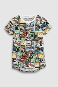 Minecraft Comic T-shirt (4-14yrs)