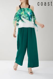 Coast Green Mahalia Satin Trouser