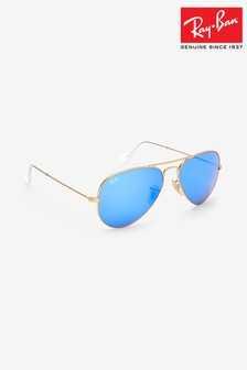 Ray-Ban® Gold Large Aviator Sunglasses