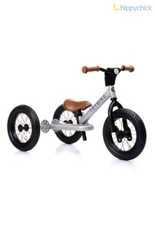 2-In-1 Silver Vintage Balance Bike by Hippychick