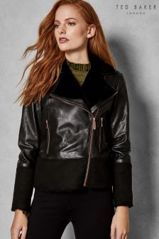 Ted Baker Shearling Leather Jacket