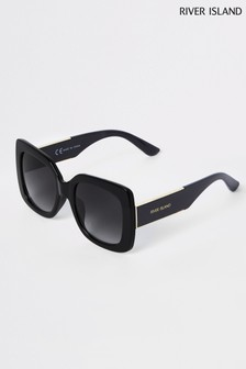 River Island Black Thick Lense Sunglasses