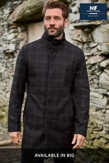 Italian Fabric Funnel Neck Coat