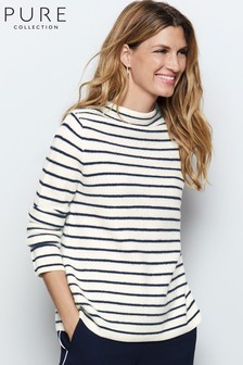 Pure Collection Toccato Textured Stripe Sweater
