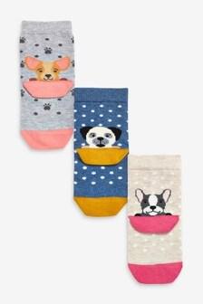 3 Pack Dog Heel Socks