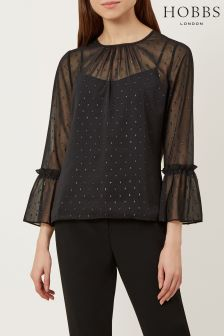 Hobbs Black Natalia Top