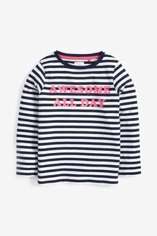 Long Sleeve Slogan T-Shirt (3-16yrs)