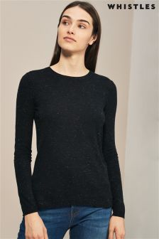 Whistles Black Annie Sparkle Knit