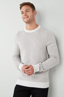 Pullover mit Rundhalsausschnitt und Strukturoberfläche