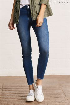 Mint Velvet Blue Maryland Raw Hem Skinny Jeans