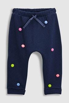 Pantalons de jogging à pompon (3 mois - 6 ans)