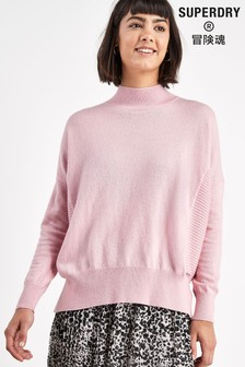 Superdry Pink Luxe Jumper