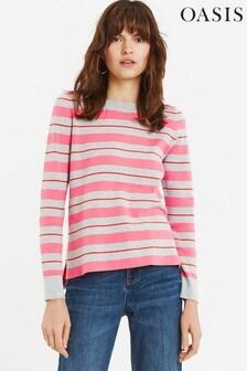 Oasis Hannah Pullover mit Streifen, Grau