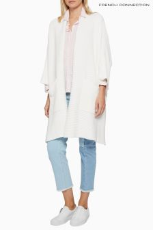 French Connection White Oversized Cardigan